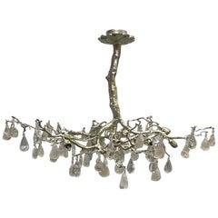 Modern Style Rock Crystal Tree Bronze Chandelier