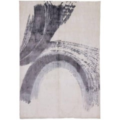 New Contemporary Area Rug with Abstract Expressionist Paint Brush Strokes