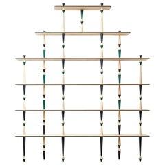 Moderner Stil Trabea Ahorn Massivholz mit Messing Details Bücherregal