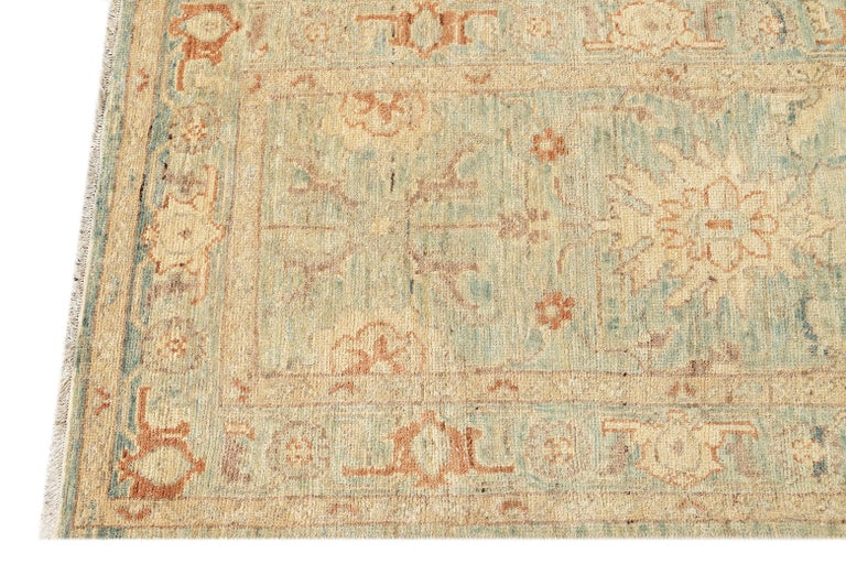 Persian Modern Sultanabad Runner wool Rug For Sale