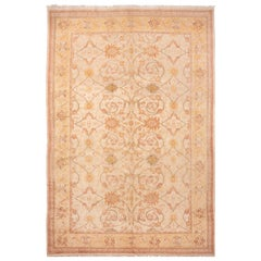 Modern Sultanabad Style Yellow and Blue Wool Rug