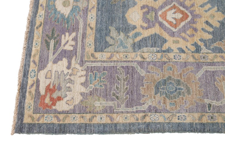 Modern Sultanabad Wool Rug For Sale 4
