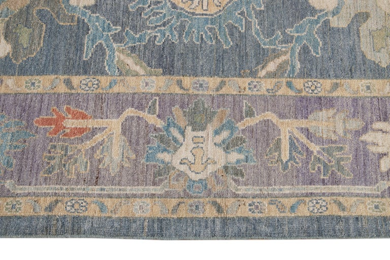 Modern Sultanabad Wool Rug For Sale 5
