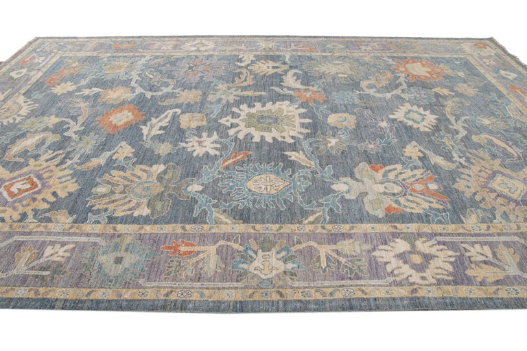 Modern Sultanabad Wool Rug For Sale 6
