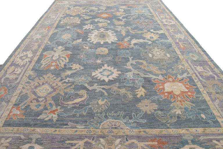Modern Sultanabad Wool Rug For Sale 7