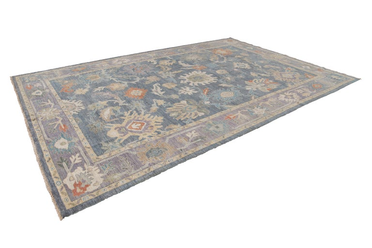 Modern Sultanabad Wool Rug For Sale 8