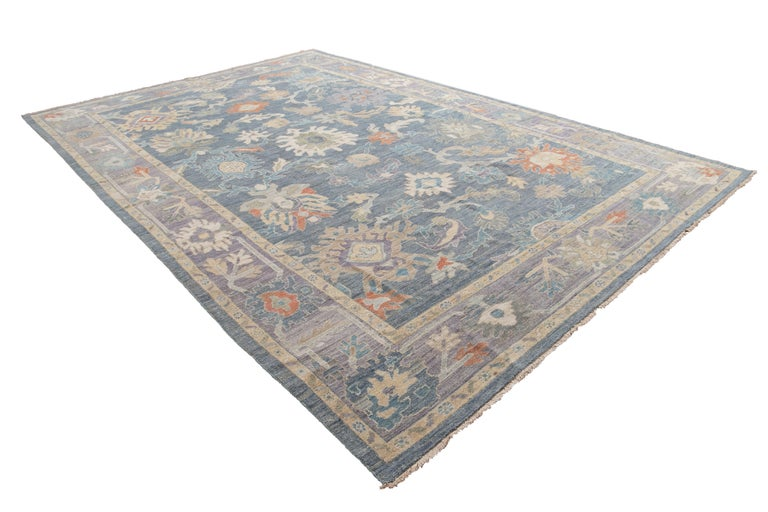 Modern Sultanabad Wool Rug For Sale 9
