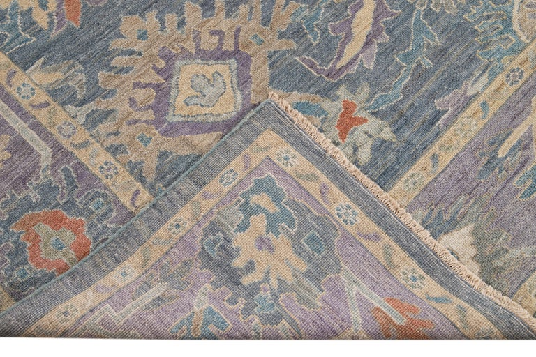 Hand-Knotted Modern Sultanabad Wool Rug For Sale