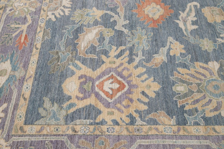 Modern Sultanabad Wool Rug In New Condition For Sale In Norwalk, CT