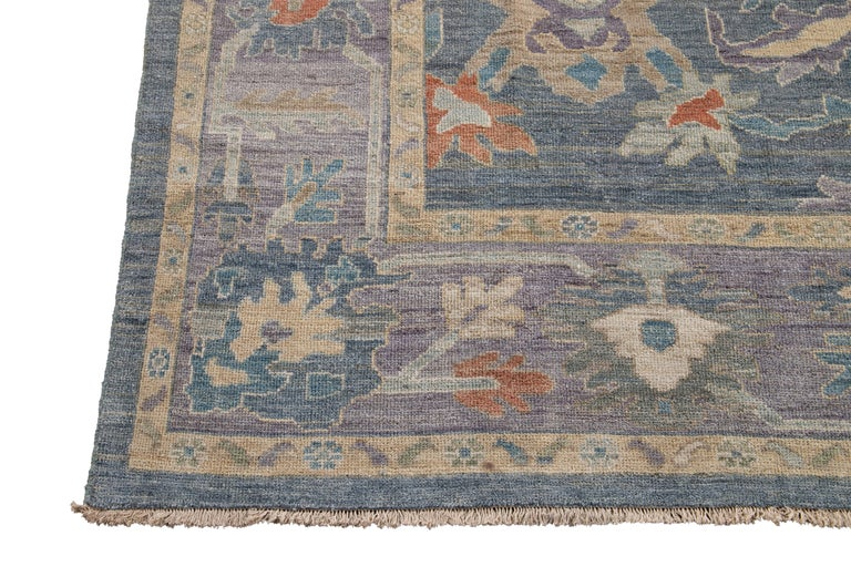 Contemporary Modern Sultanabad Wool Rug For Sale