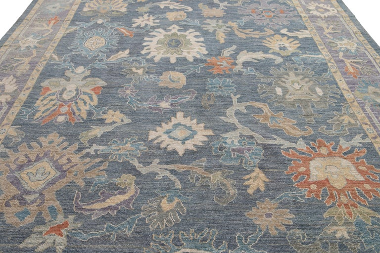 Modern Sultanabad Wool Rug For Sale 1