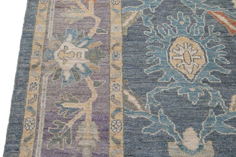 Modern Sultanabad Wool Rug For Sale 3