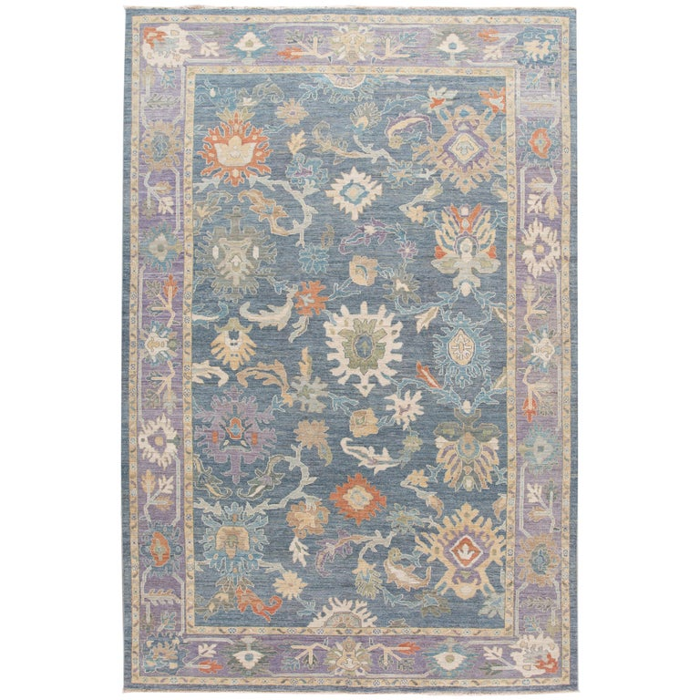 Modern Sultanabad Wool Rug For Sale