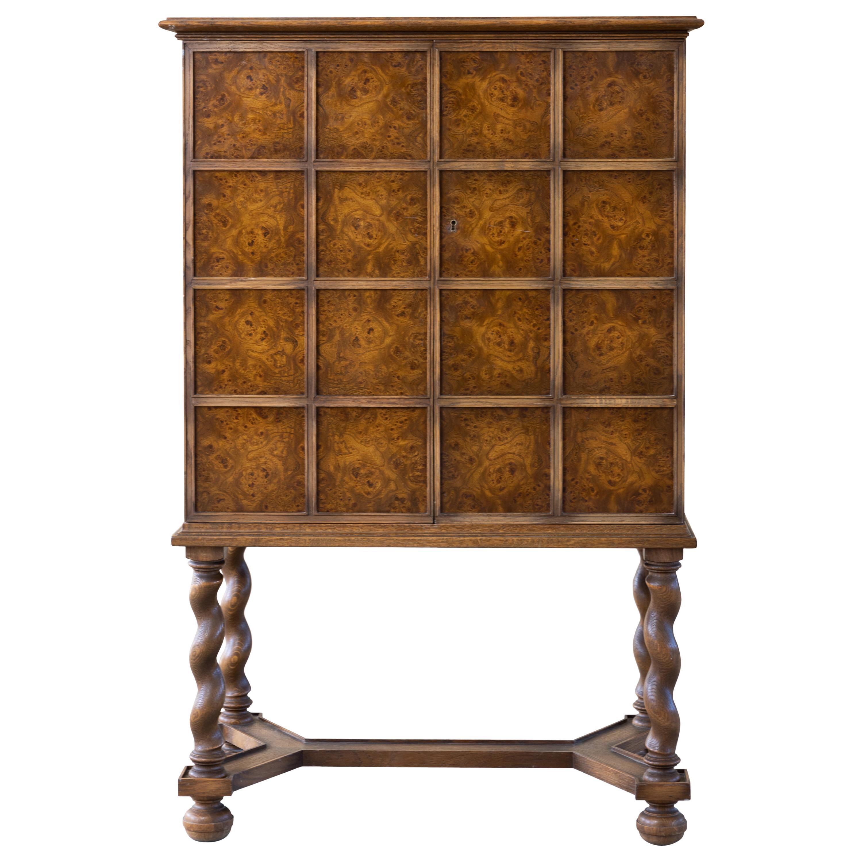 Modern Swedish Grace, Baroque Style Cabinet, 1947