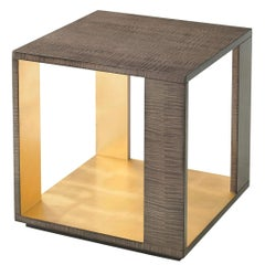 Modern Sycamore Square End Table