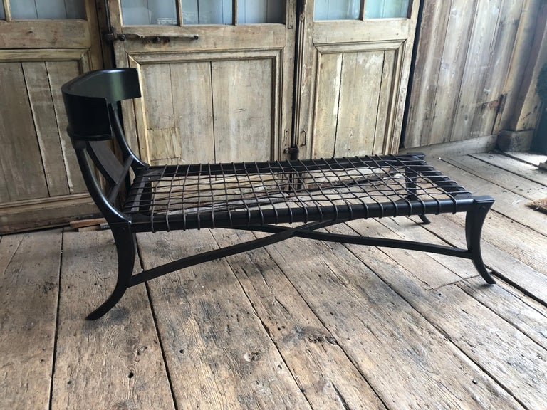 Ebonized Modern T. H. Robsjohn-Gibbings Lounge Chair For Sale