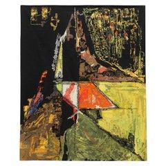 Modern Tapestry Designed by Mathieu Matégot, Le Sommet, Orange, Black, Yellow