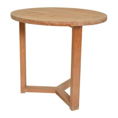 Modern Teak Round Occasional Table