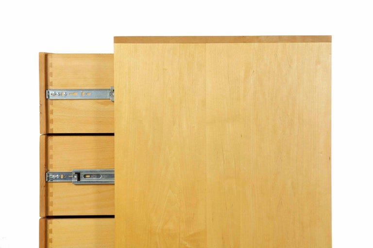 Modern Ten-Drawer Cherrywood and Figured Maple Chest Dresser by Craig Yamamoto For Sale 3