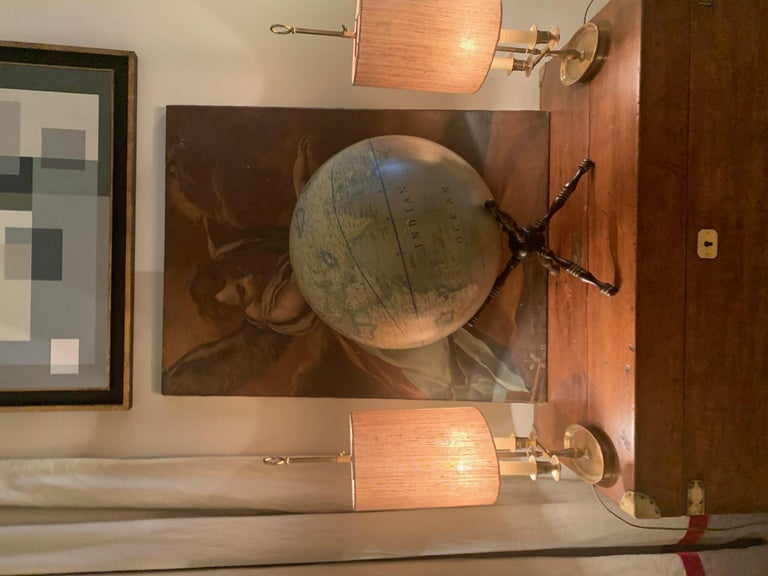 Modern Terrestrial Globe Wood Tripod Base For Sale 3