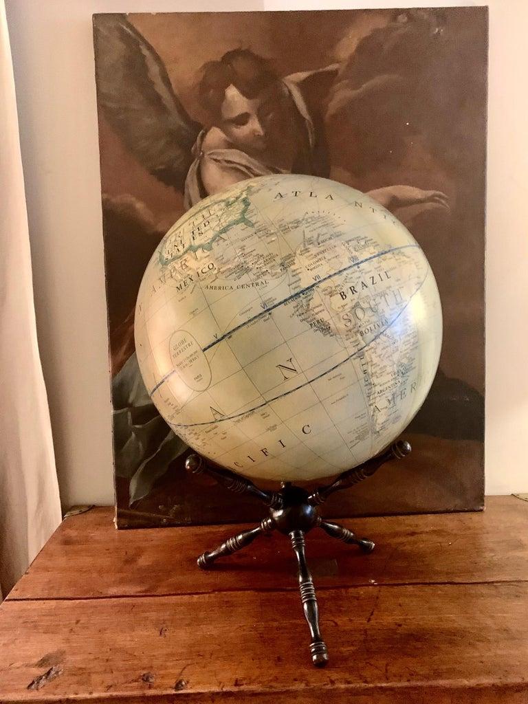 Modern Terrestrial Globe Wood Tripod Base For Sale 8