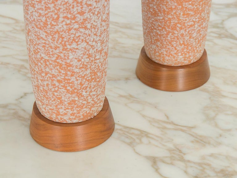 Modern Textured Ceramic Table Lamps For Sale 2