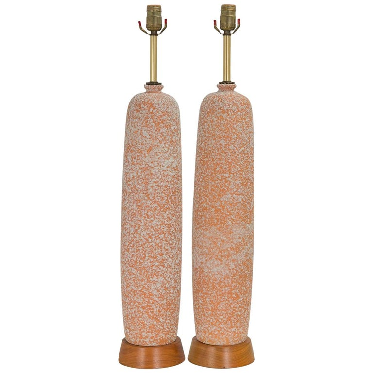 Modern Textured Ceramic Table Lamps For Sale