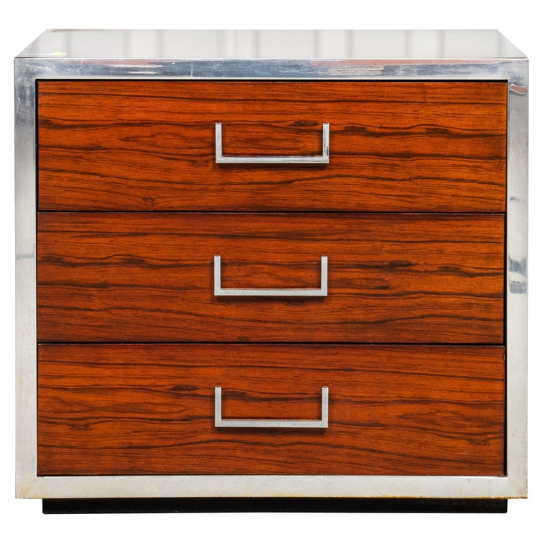 Modern Three Drawer Night Stand For Sale