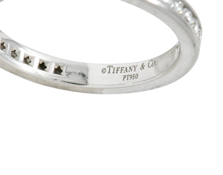 Women's or Men's Modern Tiffany & Co. 0.75 Carat Diamond Platinum Eternity Stacking Ring For Sale
