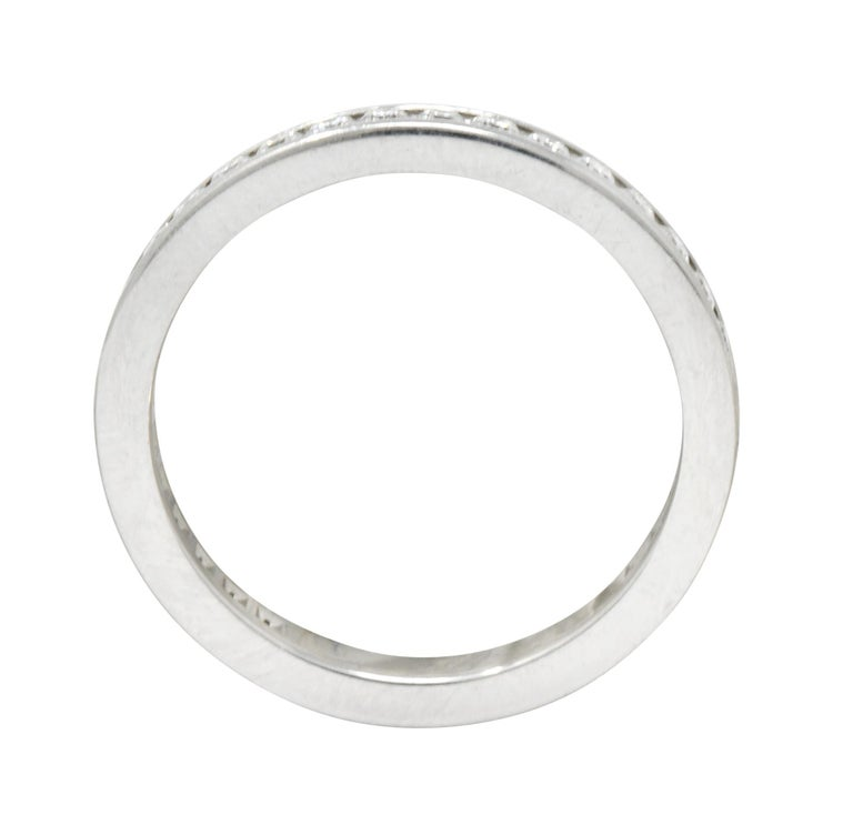 Modern Tiffany & Co. 0.75 Carat Diamond Platinum Eternity Stacking Ring For Sale 1
