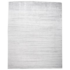 Modern Transitional Solid Gray Rug