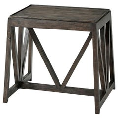 Modern Trestle End Lamp Table