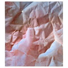 Modern Trompe-l'oeil Crumbled Paper Oil Painting, Herb Phillips, 1995