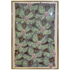 Modern Tropical Flowers Lithograph / Print