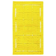 Modern Tulu Bright Yellow Hand Knotted Wool Rug