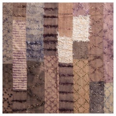 Modern Tulu Transitional Brown and Multi-Color Wool Rug