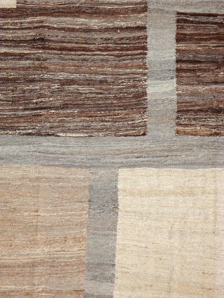 A modern Turkish flat-woven Kilim from the 21st century.
