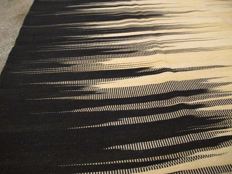 Wool Modern Turkish Flat-Weave Carpet For Sale