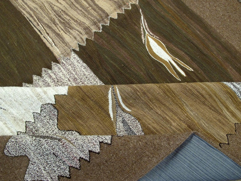 Modern Turkish Flat-Weave Rug For Sale 4