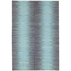 Modern Turkish Flat-Weave Rug