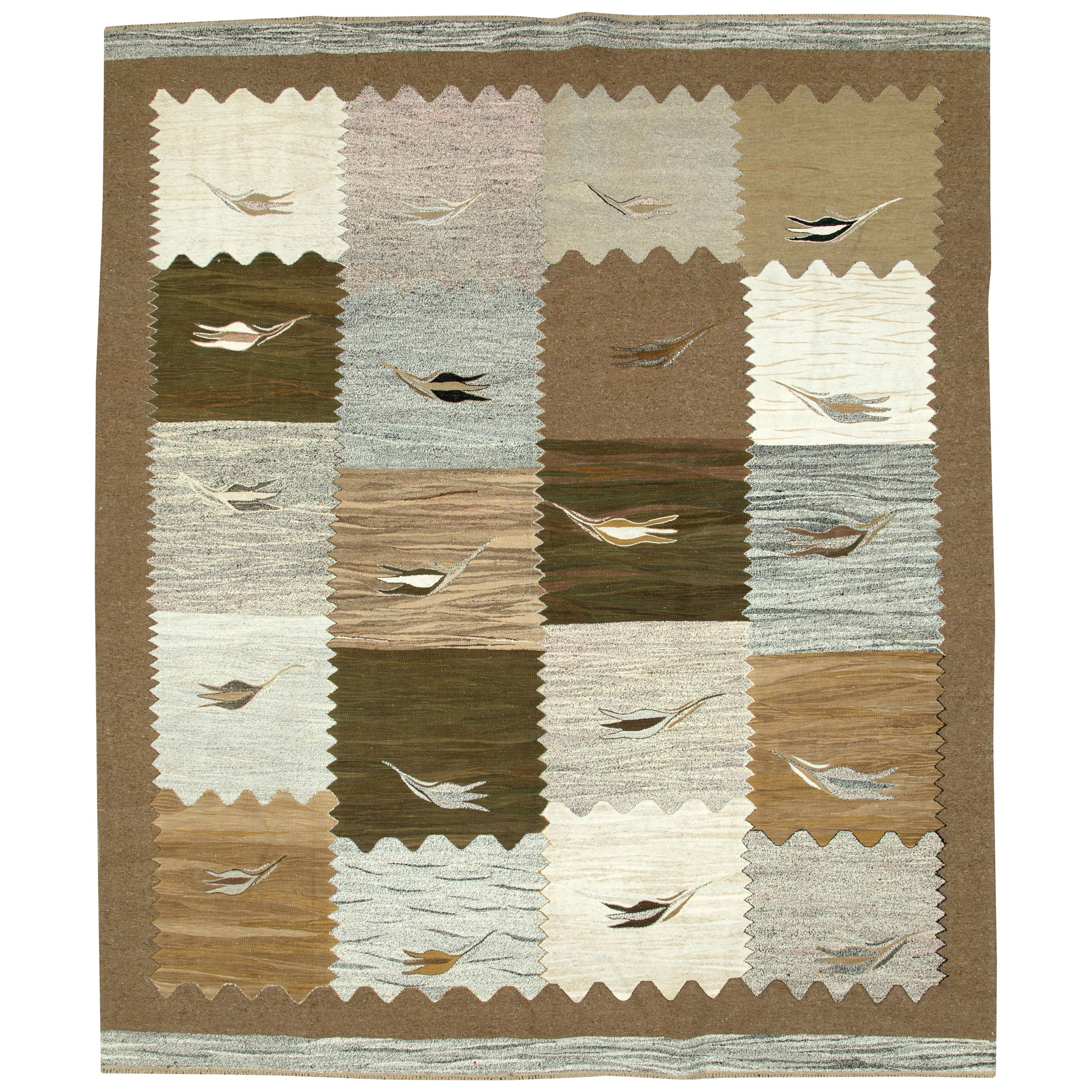 Contemporary Swedish Inspired Flat-Weave Kilim Room Size Area Rug