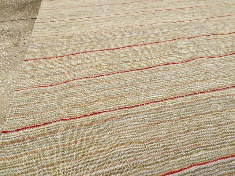 Wool Modern Turkish Flat-Weave Kilim For Sale