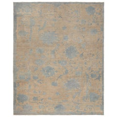 Modern Turkish Oushak Rug. Size: 8 ft 8 in x 10 ft 8 in (2.64 m x 3.25 m)