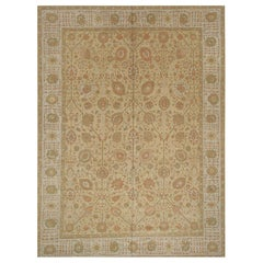 Modern Turkish Rug with Persian Tabriz Design. Size: 9 ft 11 in x 13 ft 3 in