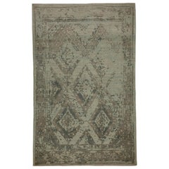 Modern Turkish Sultanabad Rug with Large Diamond Floral Details
