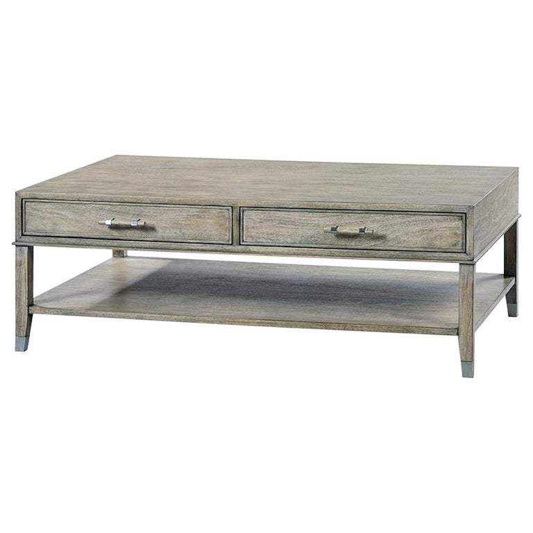 Modern Two-Tier Coffee Table For Sale
