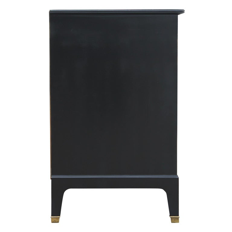 Wood Modern Two-Tone Four-Drawer Credenza or Sideboard by Johnson Furniture For Sale