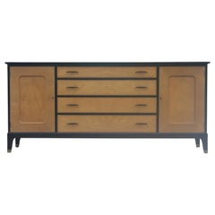 Modern Two-Tone Four-Drawer Credenza or Sideboard by Johnson Furniture