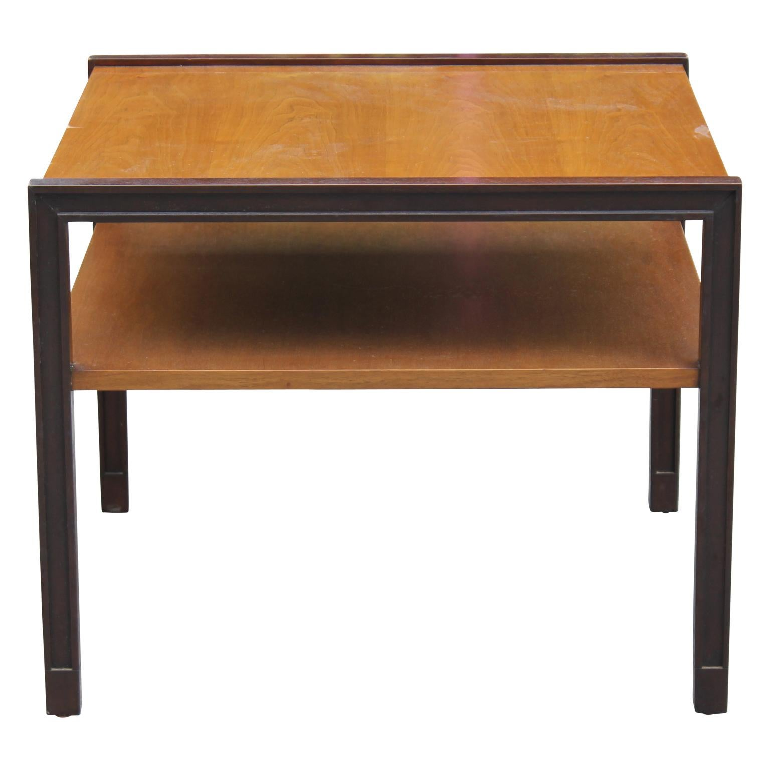 Modern Two-Tone & Two-Tiered Side Table by Edward Wormley for Dunbar