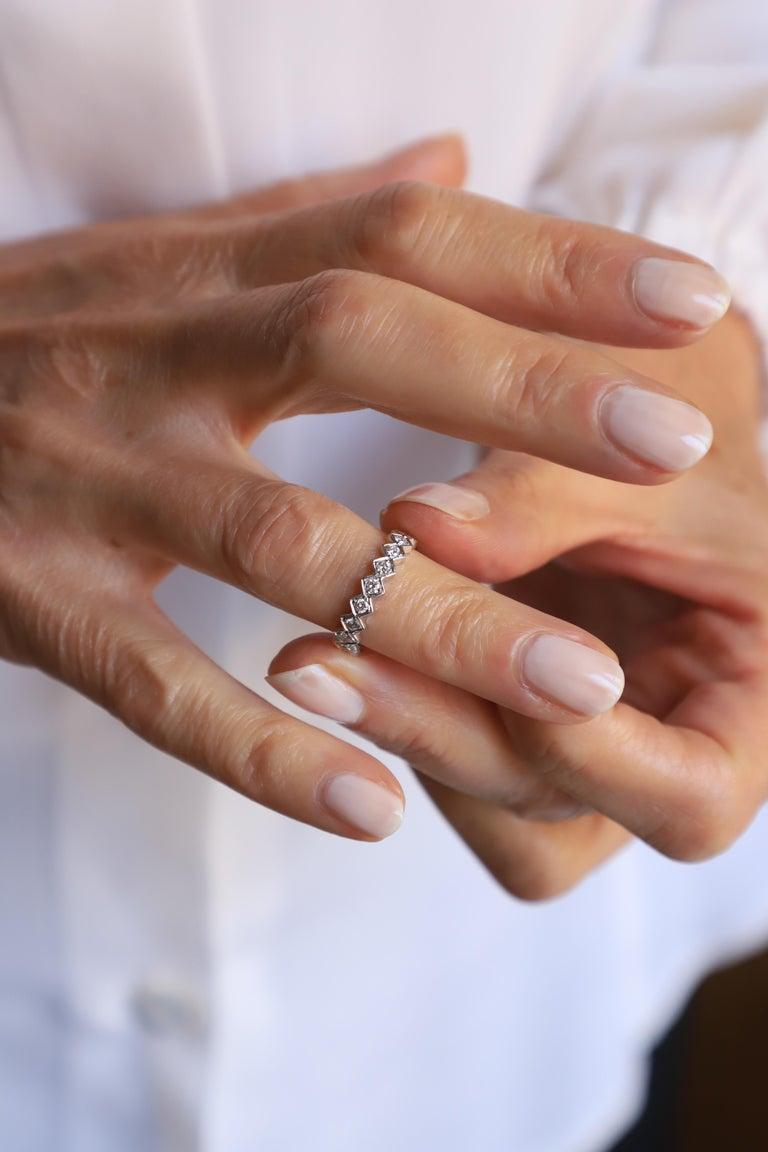 Modern Ugolini 18 Karat White Gold 0.57 Karat White Diamonds